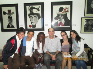At Casa de las Américas with students of the Escuela Nacional de Artes (ENA)