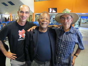 Lorenz with Henry Louis Gates Jr. and Rene Hinojosa in Havana